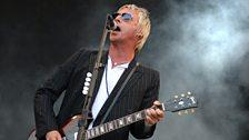 Paul Weller performing at Glastonbury in 2007