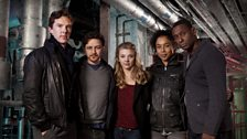 The cast of Radio 4's adaptation of Neil Gaiman's cult novel, Neverwhere, based in a subterranean world under London's streets