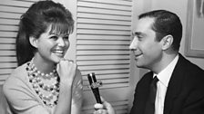 Claudia Cardinale being interviewed by Sergio Gazzarrini for the BBC Italian Service, 1962