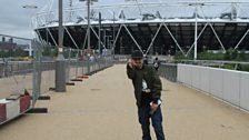 Adam Deacon at the Olympic Park