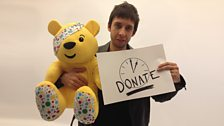 Example and Pudsey hang out backstage