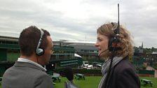 Wimbledon 2013: George Riley and Rachel Burden at Wimbledon
