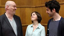 Writer Mark Ravenhill with Amanda Root and Paul Ready