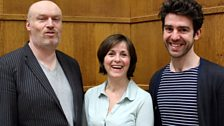 Writer Mark Ravenhill with actors Amanda Root and Paul Ready