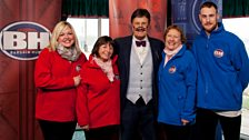 Tim with the Peterborough contestants