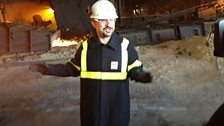 Chris Connel at the blast furnace in Billingham