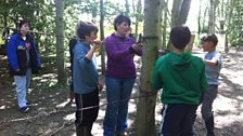 SIF teacher and low ropes