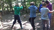 SIF lads on low ropes