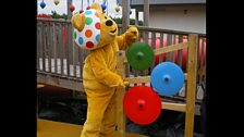 Pudsey on cymbals!