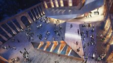 Designs by Amanda Levete's architectural practice, AL_A, for the V&A Museum's new courtyard