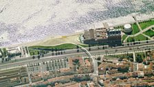 Aerial view of AL_A's designs for EDP Cultural Centre Lisbon, Portugal