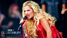 Rita Ora at Glastonbury 2013