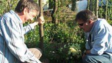 Brett Westwood and Phil Gates in garden