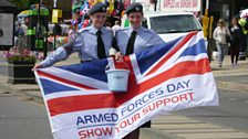 Cadets supporting Armed Forces Day