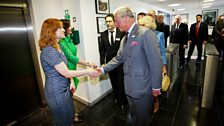 HRH Prince Charles meets Faith Penhale (Head of Drama, BBC Wales & Executive Producer, Doctor Who).