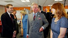 From left to right: Brian Minchin (Executive Producer, Doctor Who), HRH Prince Charles and Faith Penhale.