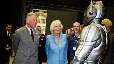 Their Royal Highnesses encounter a Cyberman.