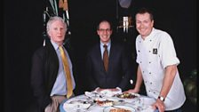 Brian Sewell, Loyd Grossman and Nick Nairn on Masterchef in 2000
