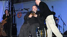 Phil Collins presents John Martyn with a Lifetime Achievement Award at The BBC Radio 2 Folk Awards, 2008