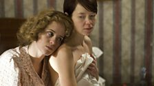 Anna Maxwell Martin and Claire Foy in The Night Watch, adapted from Sarah Waters' novel for television by Paula Milne