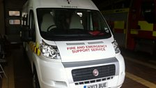 A new vehicle for the Red Cross Fire and Emergency Support Service to assist incidents