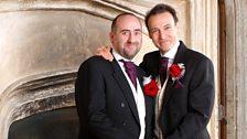 Adam Macy and Ian Craig celebrate their civil partnership (Dec 2006)