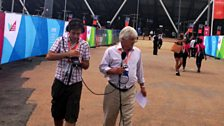 Peter Allen refamiliarises himself with the Olympic Park
