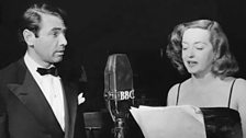 Bette Davis and husband Gary Merrill at the BBC