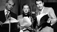 Emlyn Williams, Bette Davies, Gary Merill performing The Petrified Forest at the BBC in 1951