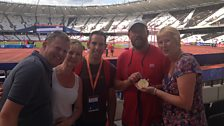 Etienne Stott and gang in the Olympic Stadium