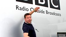 Dermot and the BBC Outside Broadcast van