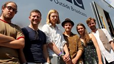 Dermot with Josienne Clarke & Ben Walker and The Ballina Whalers