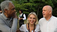 Gilberto Gil, Nikki Bedi and Peter Gabriel