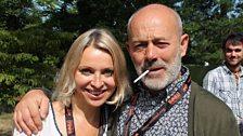 Nikki Bedi with Keith Allen