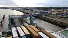 The ferry terminal at King George Dock