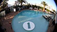 Pete Tong and the Radio 1 pool at Ushuaia