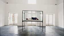 The Maybe, 1995. Collaboration between Cornelia Parker and Tilda Swinton; performance and installation at the Serpentine Gallery