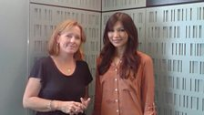Kirsty Lang and Gemma Chan in the Front Row studio