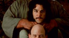 André the Giant, Mandy Patinkin and Wallace Shawn in The Princess Bride