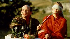 Wallace Shawn and Robin Wright in The Princess Bride