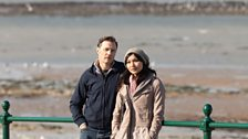 David Morrisey as Adrian, and Gemma Chan as Kathy, in BBC One's True Love