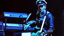 Paul Simonon performing at Glastonbury, 2010