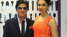 Shahrukh and Deepika arrive at the Asian Network