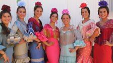 Sevillanas dancers