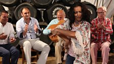 Performance in a bodega in Jerez