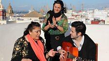 Carmen de la Jara performs an Alegría