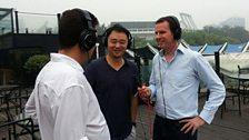Overlooking the Beijing Workers' football Stadium