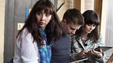 Natalie Grady (Brenda), Joe Dempsie (Arthur Seaton) and Sarah Smart (Winnie)
