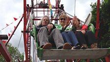 Sound engineer David Chilton and spot engineer Alison McKenzie