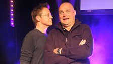 Simon teaching Al Murray a thing or two about stand-up!